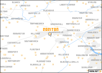 map of Raritan