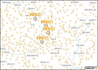 map of Rašići