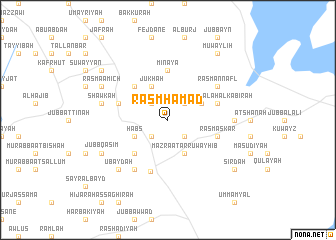 map of Rasm Ḩamad