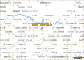 map of Rastenfeld