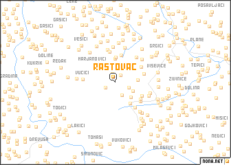 map of Rastovac