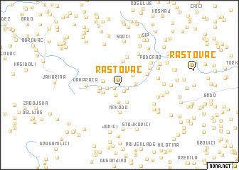 map of Rastovac