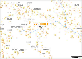map of Rastovci