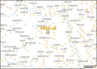 map of Rasulje