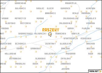 map of Raszewy
