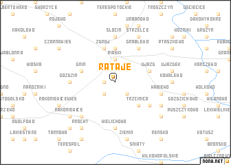 map of Rataje