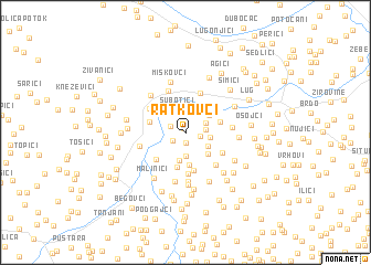 map of Ratkovci