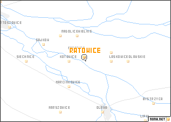 map of Ratowice