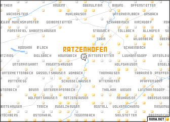 map of Ratzenhofen