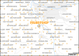 map of Raubershof