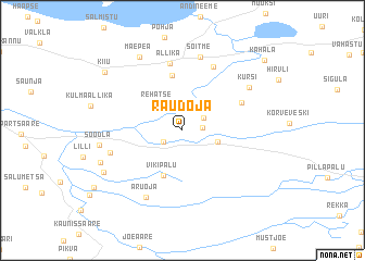 map of Raudoja