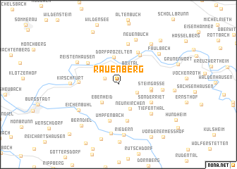 map of Rauenberg