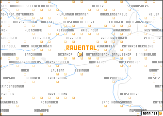 map of Rauental