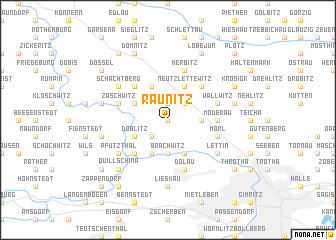 map of Raunitz