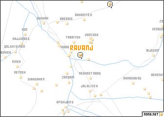 map of Rāvanj