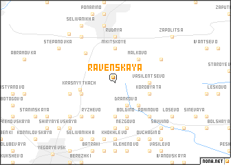map of Ravenskaya