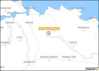 map of Ravna Gora