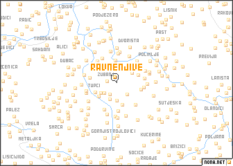 map of Ravne Njive