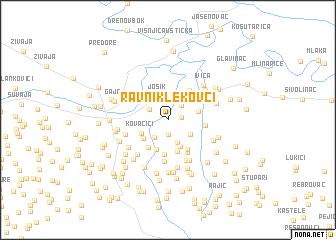 map of Ravni Klekovci