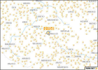 map of Ravni
