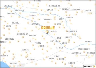 map of Ravnje