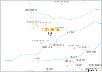 map of Raymond