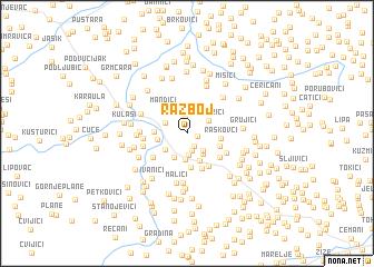 map of Razboj