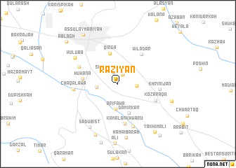 map of Rāziyān