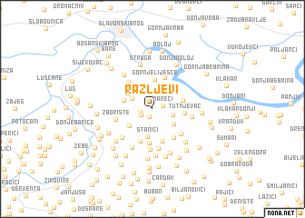 map of Ražljevi