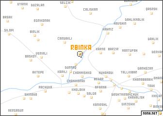 map of Rbinka