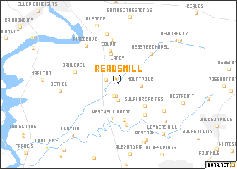 map of Reads Mill