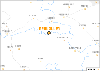 map of Rea Valley