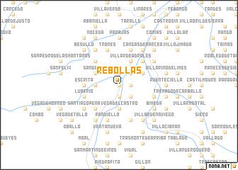 map of Rebollas