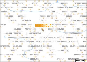 map of Rębowola