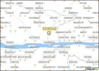 map of Rębowo