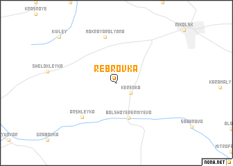 map of Rebrovka