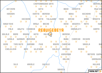 map of Rebu'i Gebeya
