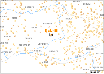 map of Rečani