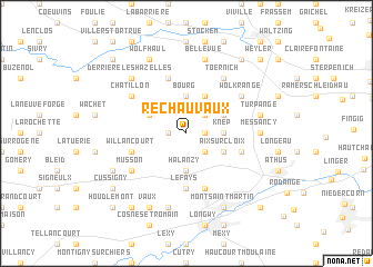 map of Rechauvaux