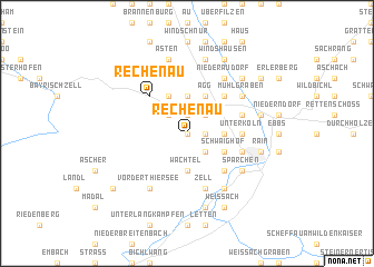 map of Rechenau