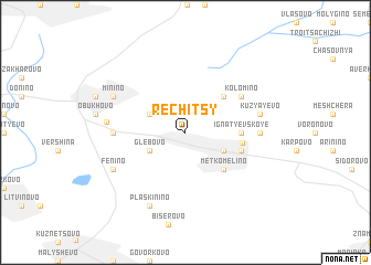 map of Rechitsy