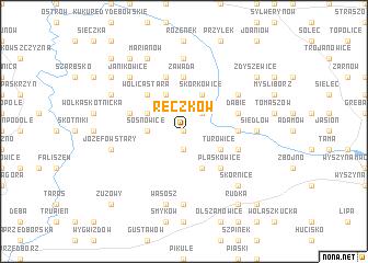 map of Reczków