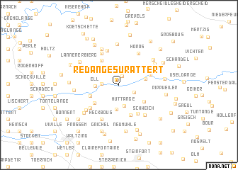 map of Redange-sur-Attert
