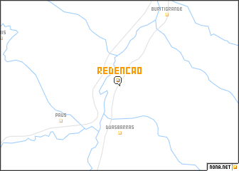 map of Redenção