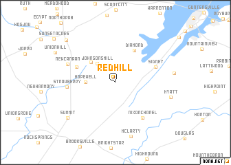 map of Red Hill
