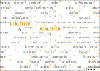 map of Redleiten