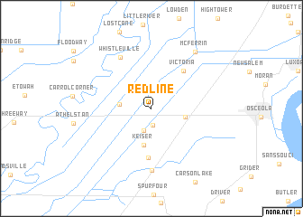 map of Red Line
