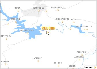 map of Red Oak