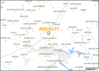 map of Reece City
