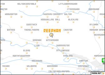 map of Reepham
